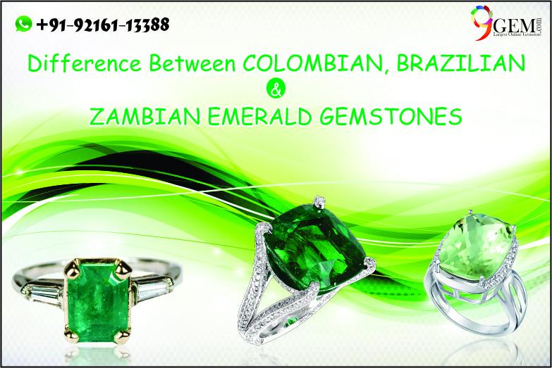 Difference Between Colombian, Brazilian & Zambian Emerald Gemstones