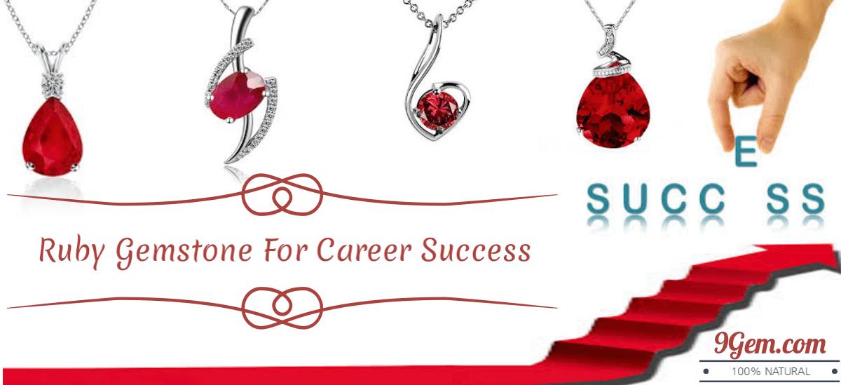 Ruby gemstone for career success