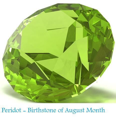 Birthstone of August Month