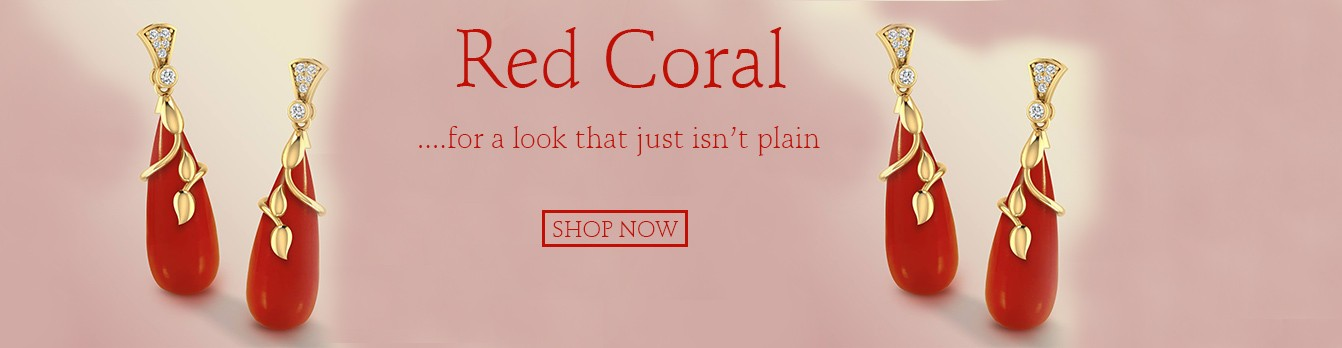 Red Coral Gemstone For Jewelry