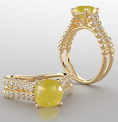 yellow sapphire stone rings
