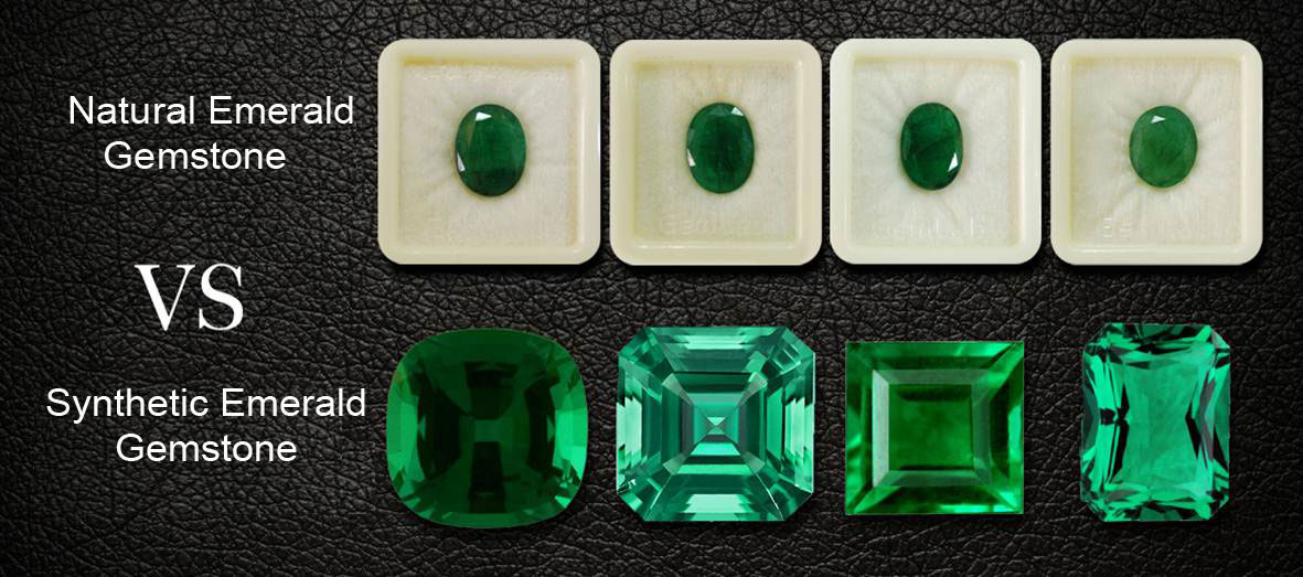 Synthetic vs natural emerald stone