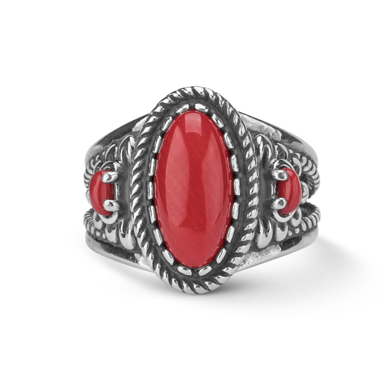 Popular Red Coral Moonga Gemstone Jewelry