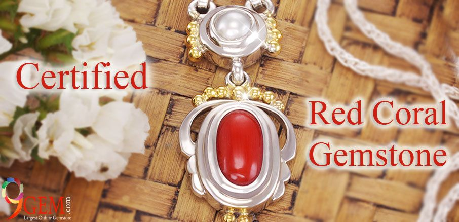 Certified Red Coral GEmstone