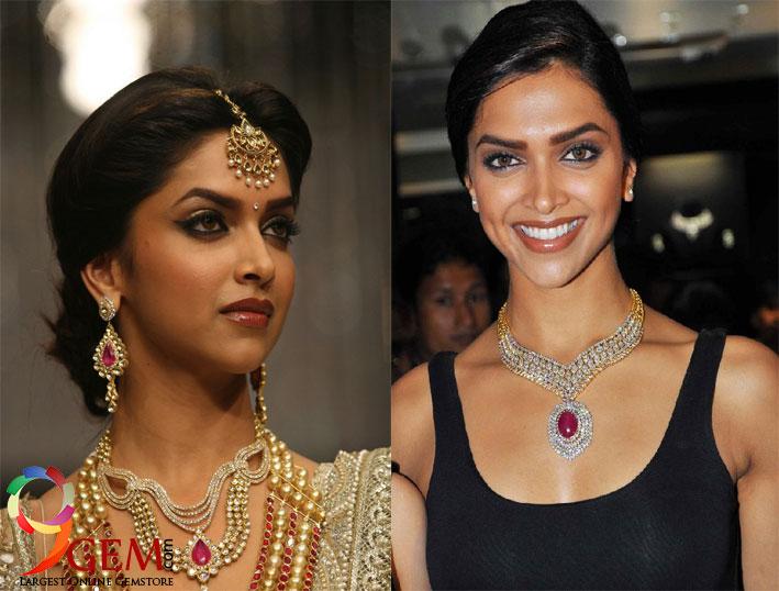 Deepika-Padukon-wearing ruby-stone