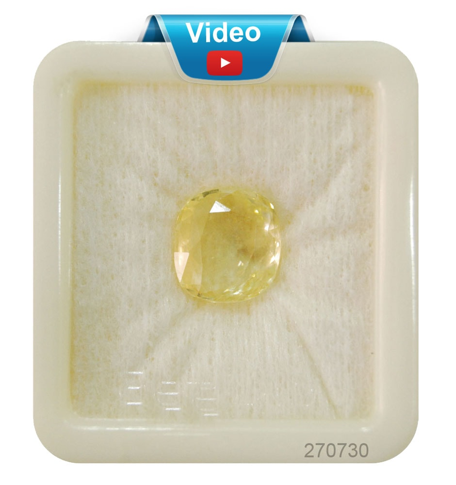 Ceylon Astrological Yellow Sapphire Gemstone 6.1 Carats (10.16 Ratti)