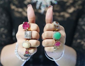 Gemstones for each finger