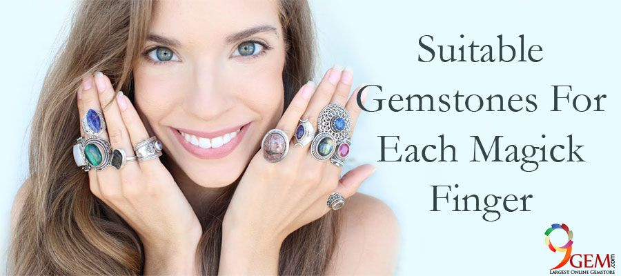 Suitable Gemstones For Each Magick Finger