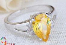 Yellow Topaz Stone Ring