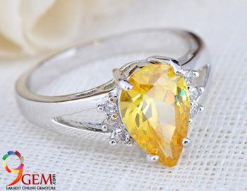 Yellow Topaz Stone Ring