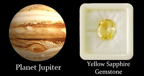Planet Jupiter And Yellow Sapphire