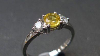 Yellow-Sapphire ring