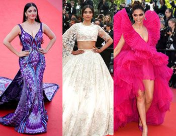 Bollywood Actresses Stun At Cannes Film Festival