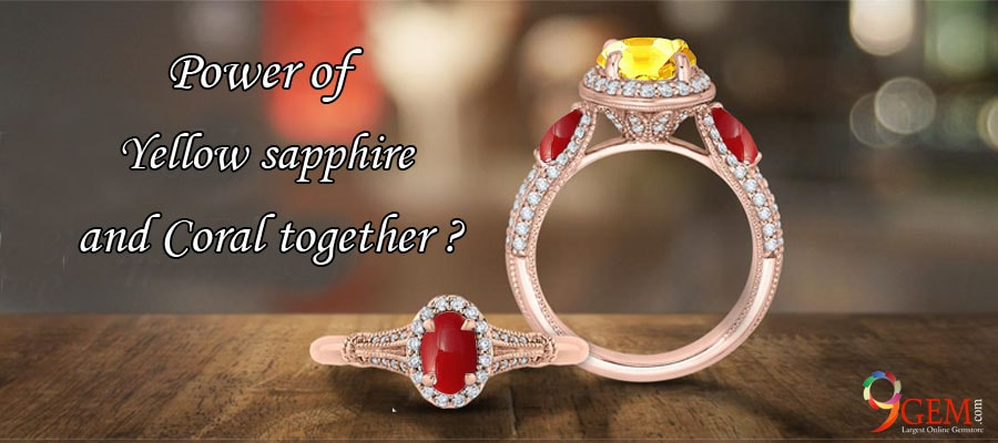 Should I wear a coral and a yellow sapphire together