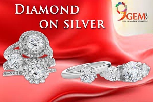 Diamond and silver jewellery