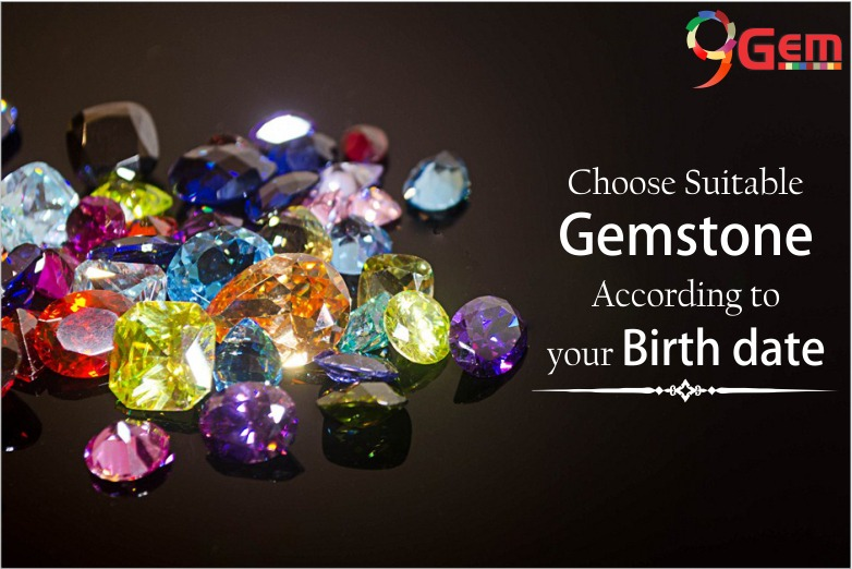 Selection of gemstones according to birth date